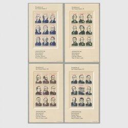 アメリカ 1986年国際切手展AMERIPEX86 小型シート4種
