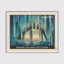 アメリカ 2020年氷の洞窟・速達切手