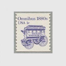 アメリカ 1983年輸送機関 額面「c」付き「乗合馬車」