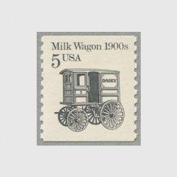 アメリカ 1987年輸送機関 額面「c」なし「牛乳馬車」
