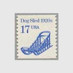 アメリカ 1986年輸送機関 額面「c」なし「犬ソリ」