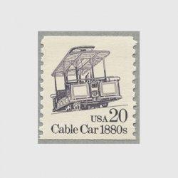 アメリカ 1988年輸送機関 額面「c」なし「ケーブルカー」