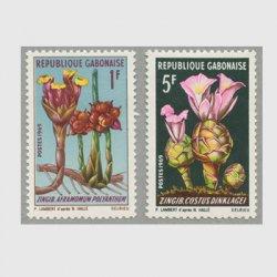 ガボン共和国 1969年花2種