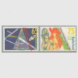 オランダ 1988年ニュートンの光学研究、名誉革命300年2種
