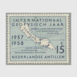 オランダ領アンチル諸島 1957年キュラソー島の地図
