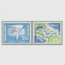 オランダ領アンチル諸島 1964年航空便マイアミ、キュラソールート就航35年2種