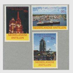 オランダ領アンチル諸島 1965年キュラソーの石油工業50年3種