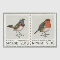ノルウェー 1980年オガワコマドリなど2種