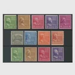 アメリカ 大統領シリーズ(1938年シリーズ)コイル13種揃い(No.1)
