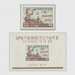 韓国 1959年UPU加入60年