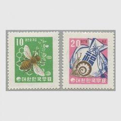 韓国 1960年児童貯金切手2種・ファン貨
