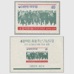 韓国 1961年4月革命1年