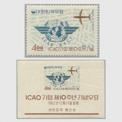 韓国 1962年ICAO加入10年