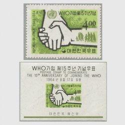 韓国 1964年WHO加入15年