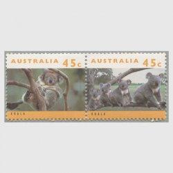 オーストラリア 1994年コアラ2種連刷