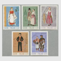 フィンランド 1972年民族衣装5種