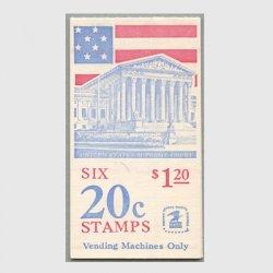 アメリカ 1981年切手帳$1.20星条旗と最高裁