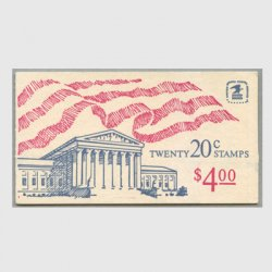 アメリカ 1982年切手帳$4.00星条旗と最高裁※少陽ヤケ