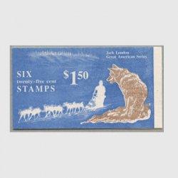アメリカ 1988年切手帳$1.50 Jack London