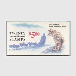 アメリカ 1988年切手帳$3.00 Jack London