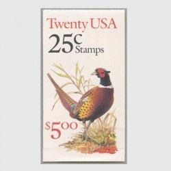 アメリカ 1988年切手帳$5.00キジ