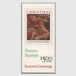 アメリカ 1989年切手帳$5.00クリスマス聖母子