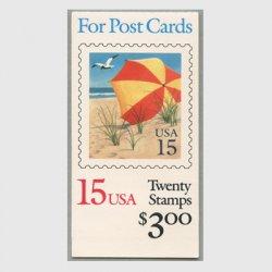 アメリカ 1990年切手帳$3.00ビーチパラソル