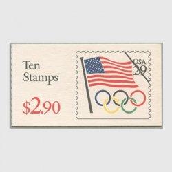 アメリカ 1991年切手帳$2.90切手展広告 ※少シミ