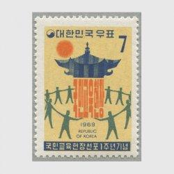韓国 1969年教育憲章宣布1年