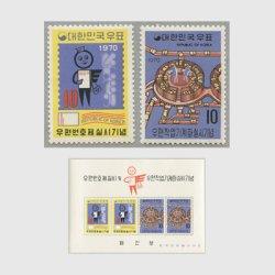 韓国 1970年郵便番号制実施・郵便作業機械化2種