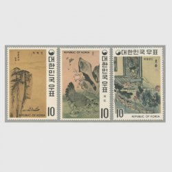 韓国  1970年第1次名画シリーズ第3集3種
