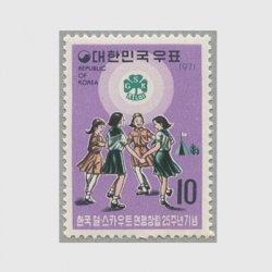 韓国 1971年ガールスカウト25年