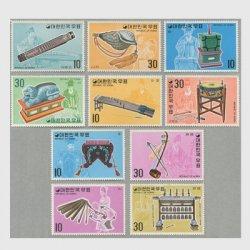 韓国 1974年国楽楽器シリーズ10種 ※少シミ