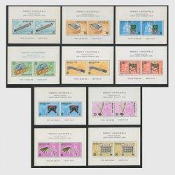 韓国 1974年国楽楽器シリーズ小型シート10種  ※少難品