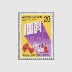 韓国 1976年生保契約1000億ウォン突破