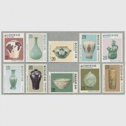 韓国 1977年陶器シリーズ10種