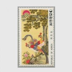 韓国 1980年民画シリーズ「花鳥図」