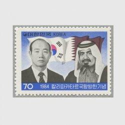 韓国 1984年カタール国王訪韓