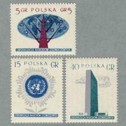 ポーランド 1957年国連3種