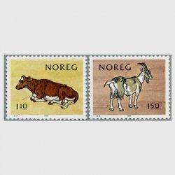 ノルウェー 1981年牛とヤギ2種