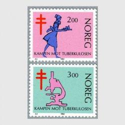 ノルウェー 1982年結核撲滅運動2種