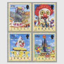 ジャージー 2002年ヨーロッパ切手4種