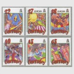 ガーンジー 2002年ヨーロッパ切手6種