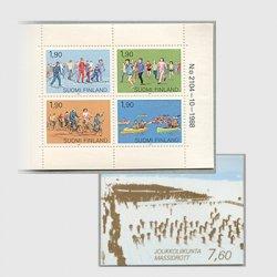 フィンランド 1989年スポーツ切手帳