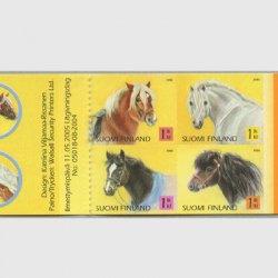 フィンランド 2005年馬 切手帳