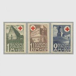 フィンランド 1931年赤十字切手3種