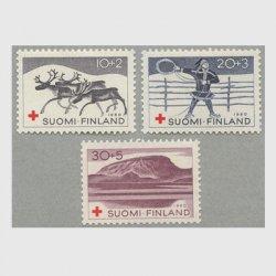 フィンランド 1965年赤十字切手3種