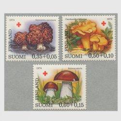フィンランド 1974年赤十字切手 きのこ3種