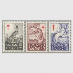 フィンランド 1962年複十字切手 動物3種