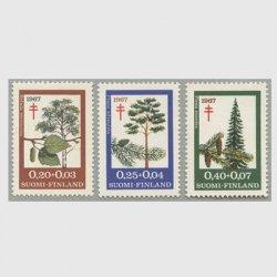 フィンランド 1967年複十字切手 樹木3種
